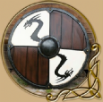 LARP Viking Dragon Shield